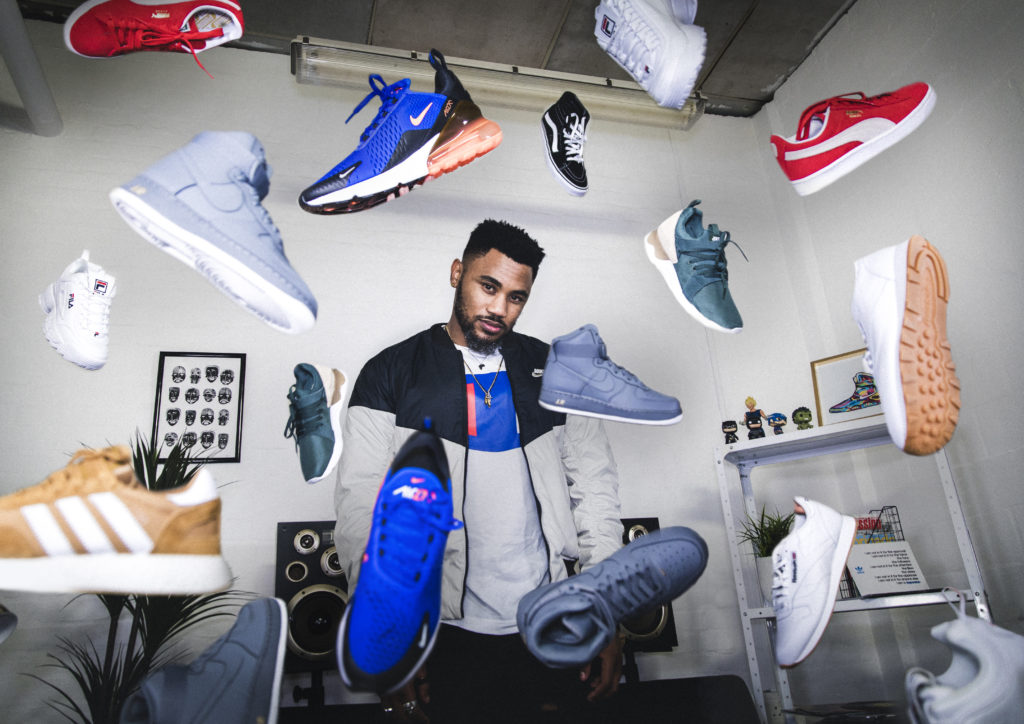Gantane Kusch sneaker collector with his collection featuring Nike, adidas Reebok and Puma