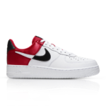 NIKE MEN'S AIR FORCE 1 LV8 WHITE/RED SNEAKER